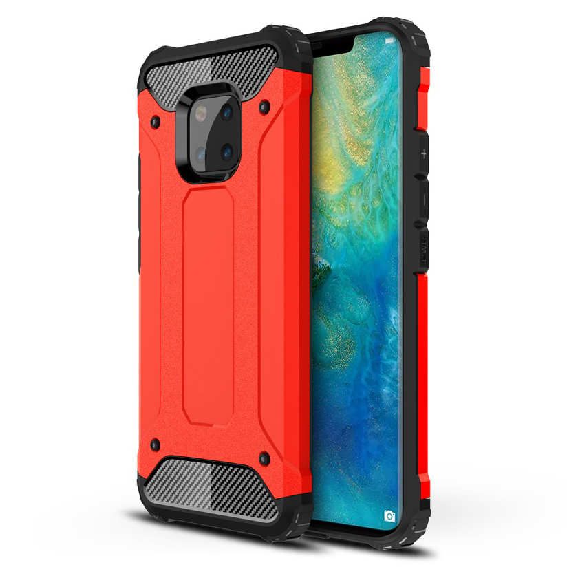 Military Defender Shockproof Case - Huawei Mate 20 Pro (Red)